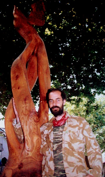 Early wooden sculptures duncan kitson chainsaw sculptor